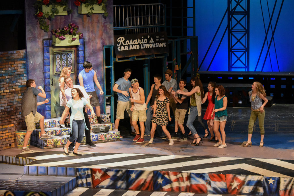 "Ensemble players from ""In The Heights"" presented by LHS drama department."