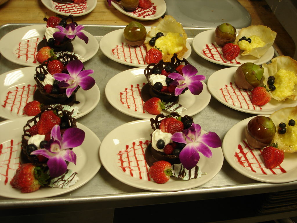 Plated desserts by MATC students.