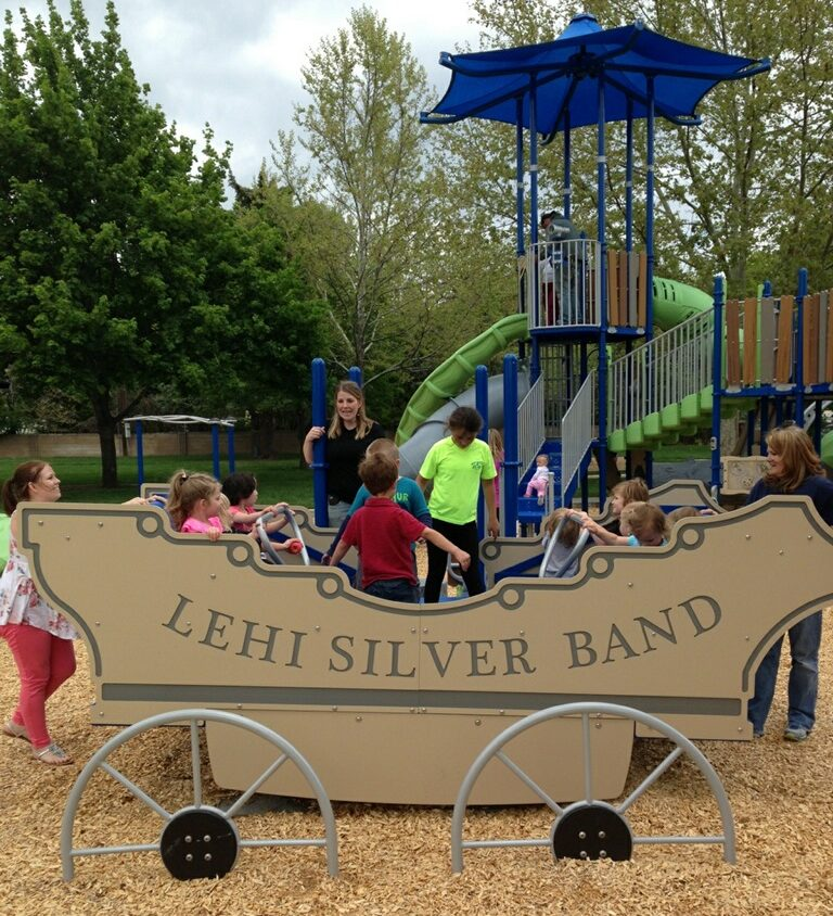 Kids playing at Bandwagon Park