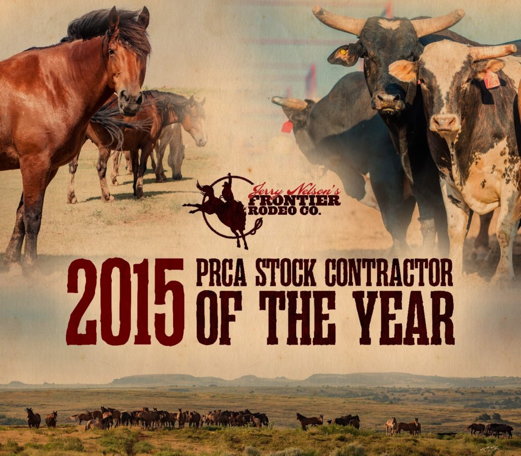 This year's rodeo stock contractor will be Frontier Rodeo Co., voted 2015 PRCA Stock Contractor of the Year.