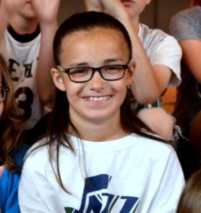 Brooklyn Trapp at Lehi Elementary 4th Grade Showcase.