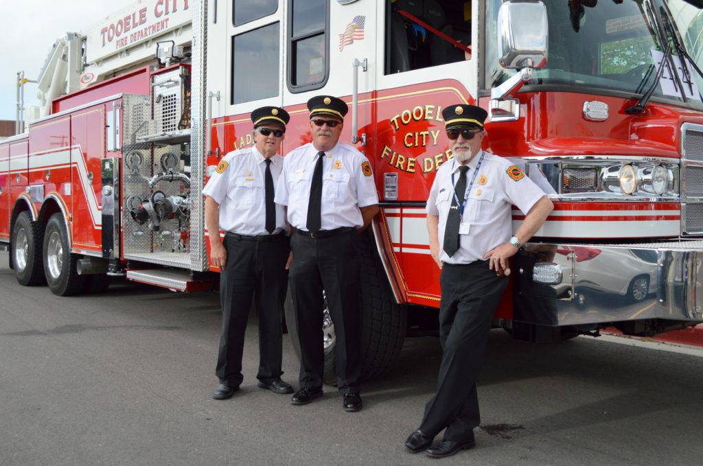 Tooele Fire Chiefs Rowe Harrison, Jim Millward, and Gary Coon. Photo: Nicole Kunze