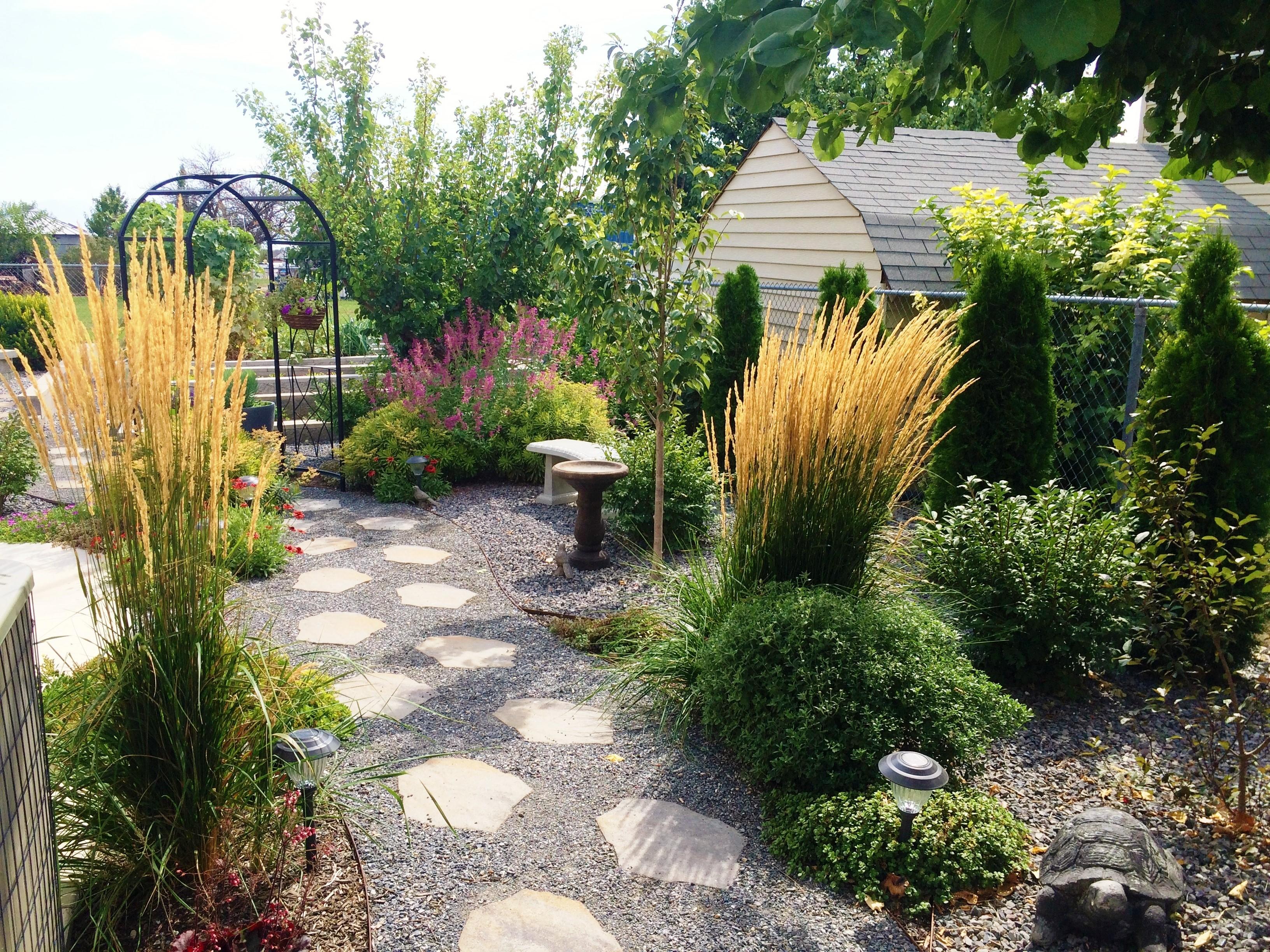 Lehi woman shares water saving garden transformation for Water saving garden designs