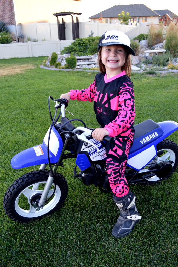 Blakely White on her bike. Photo courtesy of the White family