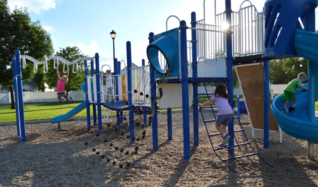 The jungle gym at Allred Park. Photo: Nicole Kunze
