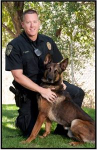 K9 Robbie and Officer Jeff Smith. Photo courtesy of Lehi Police Department