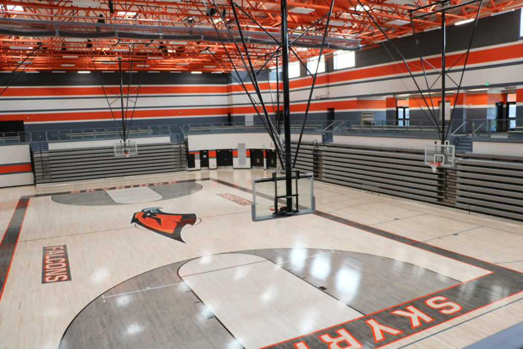 Skyridge gym and basketball court. Photo: Wendi Klein