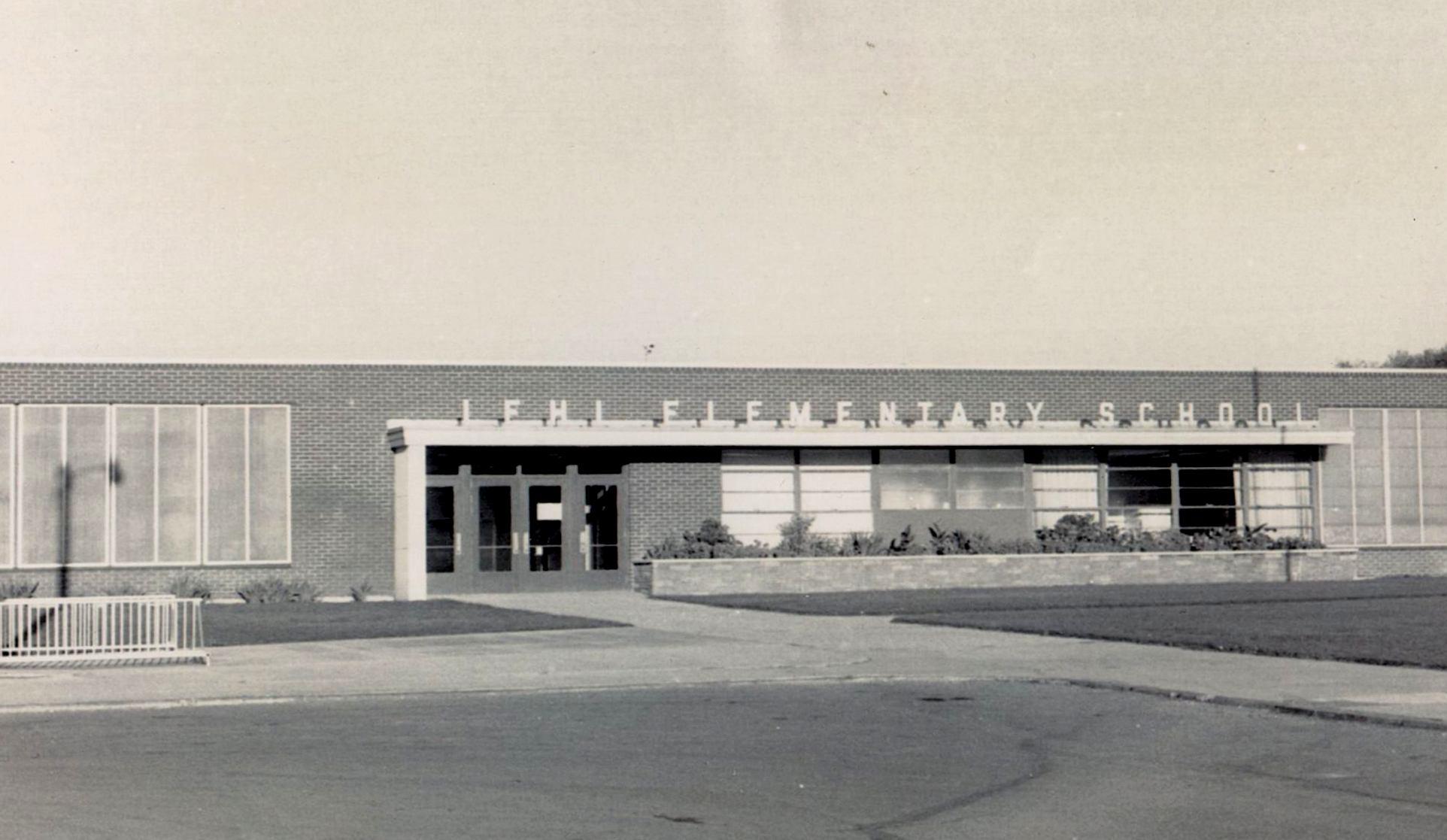 Old photo of Lehi Elementary