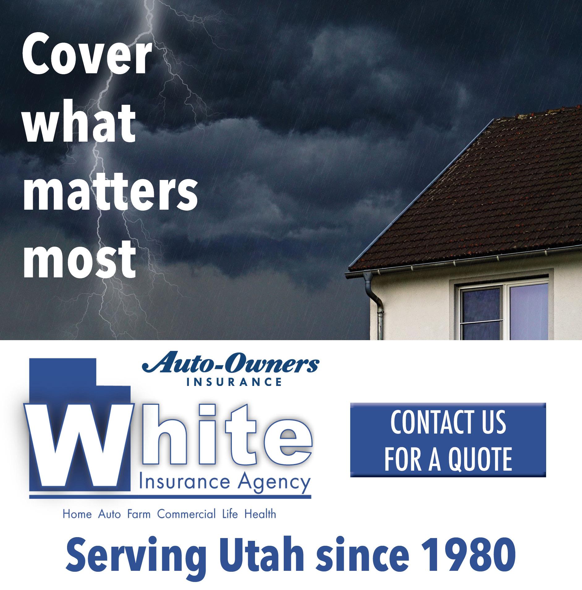 White Insurance Online Ad