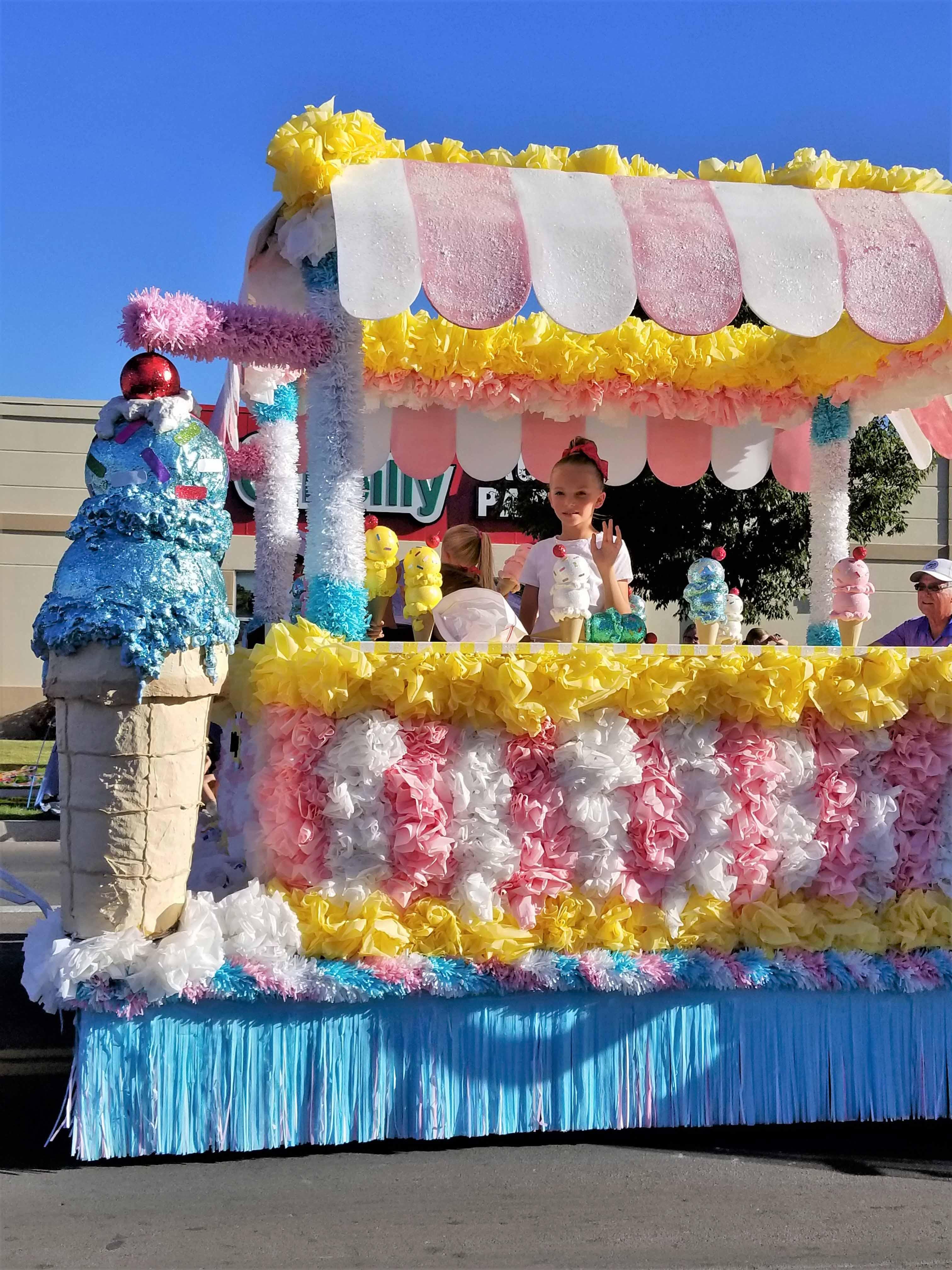 Ice cream shop mini float