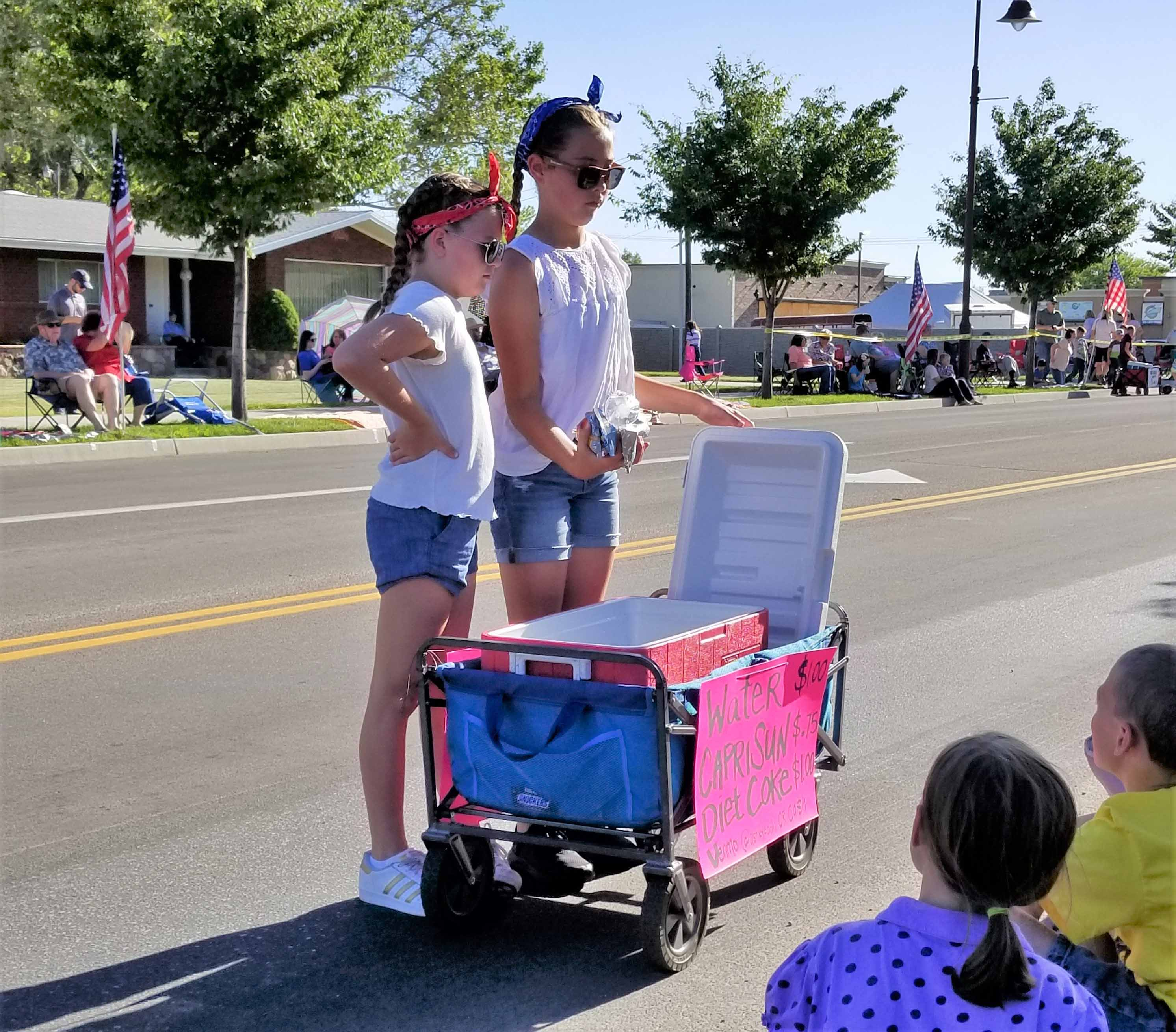 Mini float parade entrepreneurs