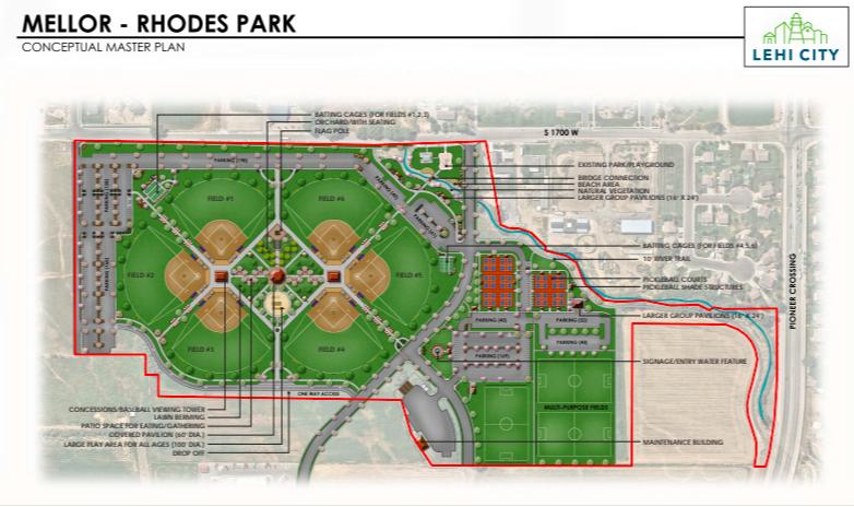 Mellor Rhodes Park Plans